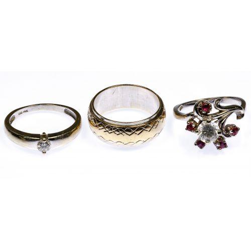 14k White Gold Ring Assortment
