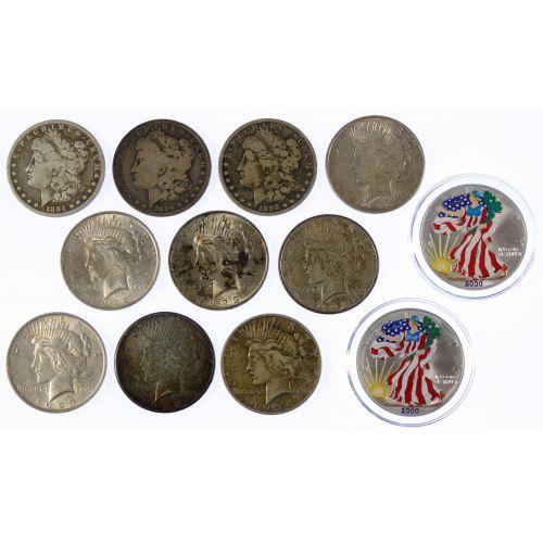 Morgan, Peace and Silver Eagle $1 Assortment