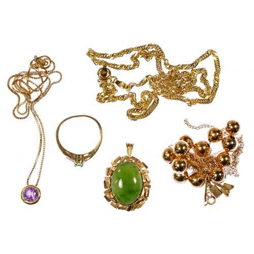 14k Yellow Gold Jewelry Assortment