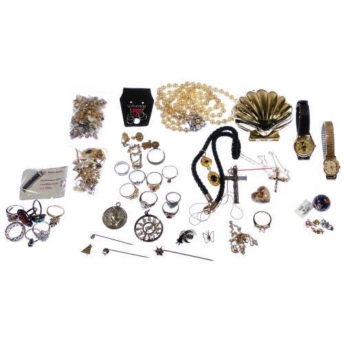 Gold, Sterling and Costume Jewelry Assortment