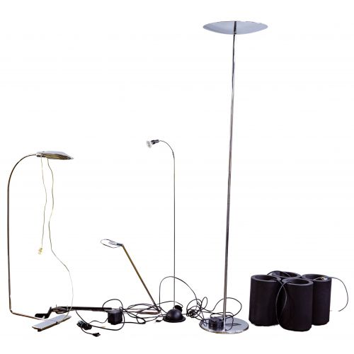 Cedric Hartman Floor and Chrome Lamp Assortment
