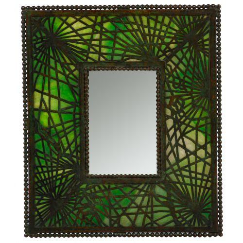 "Tiffany Studios ""Pine Needle"" Pattern Bronze Picture Frame"