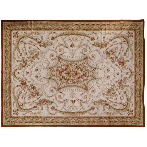 Aubusson Wool Needlepoint Rug