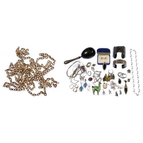 Mixed Gold and Sterling Silver Jewelry Assortment