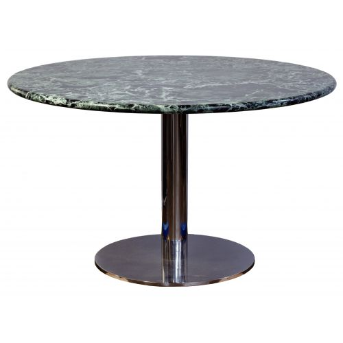 Marble and Chrome Base Dining Table
