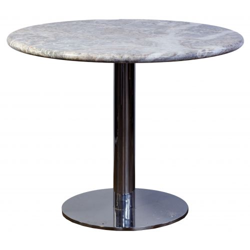 Marble and Chrome Base Cafe Table
