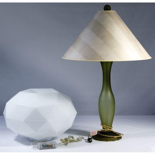 Vaso Sonneman and Michael DeLucchi Glass Lamps