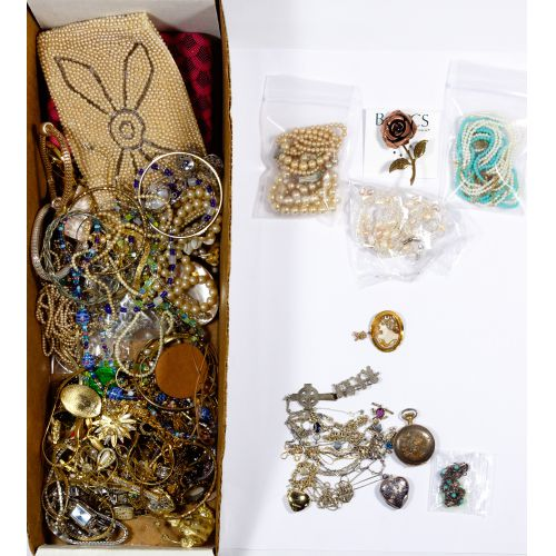 10k Yellow Gold, Sterling Silver and Costume Jewelry Assortment