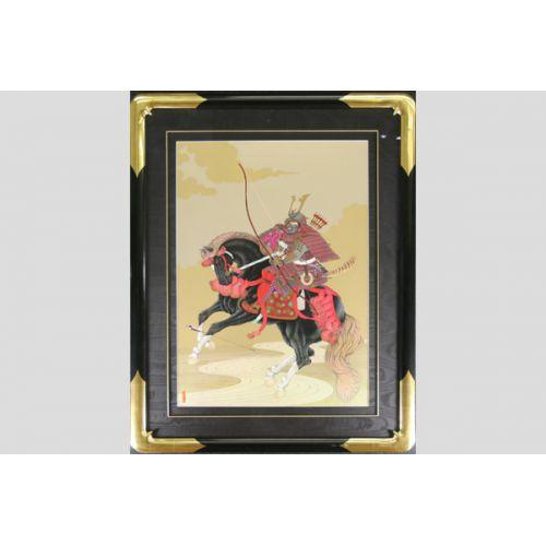 Samurai on Black Horse