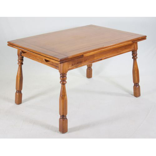 Mahogany Kitchen Table with Refectory Leaves