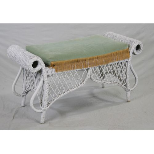 Wicker Bench with Pad
