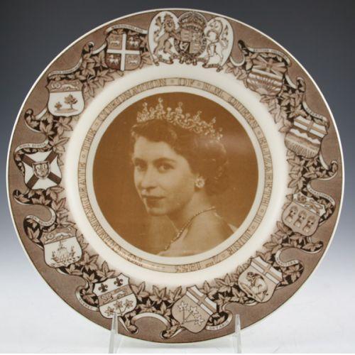 1953 Queen Elizabeth Commemorative Plate