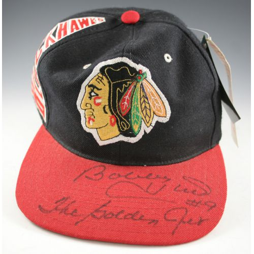 Bobby Hull Autographed Chicago Black Hawks Hat