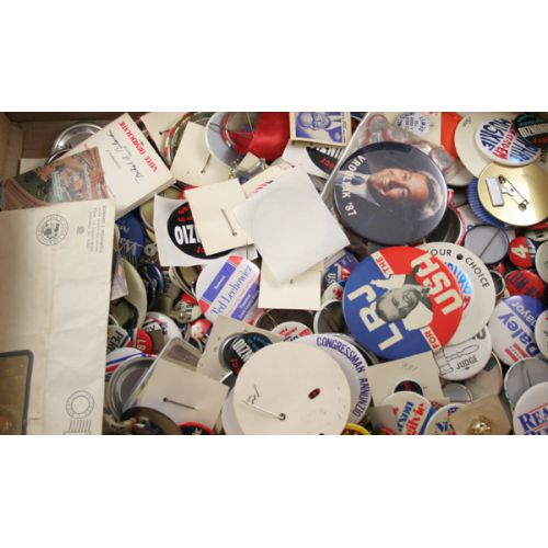 Large Collection of Political Pin Backs