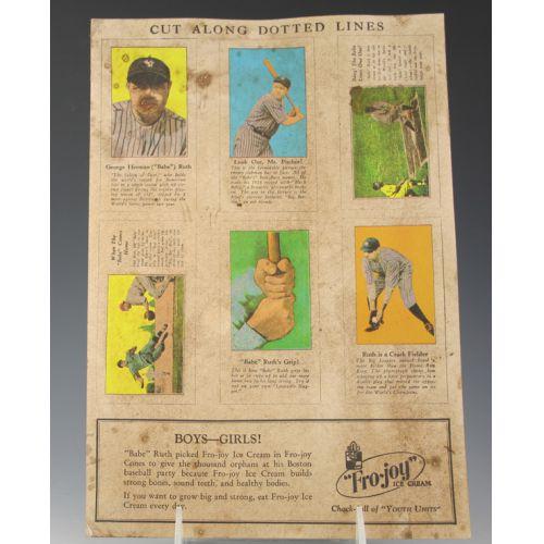 Babe Ruth Fro-Joy Ice Cream Advertisement