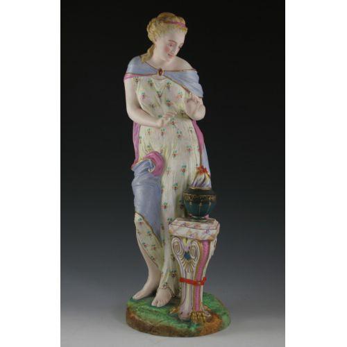 19th Century European Ceramic Figurine