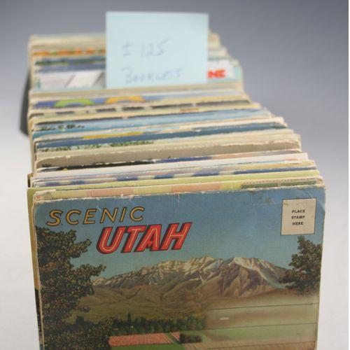 Vintage Fold Out Booklet Postcards