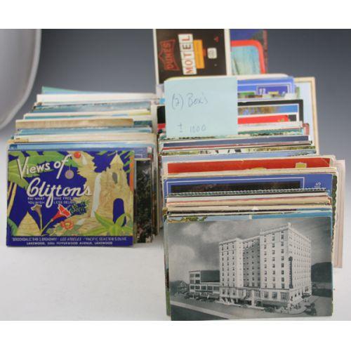 (2) Boxes Postcards