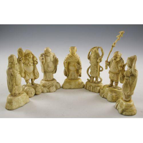(9) Oriental Figurines