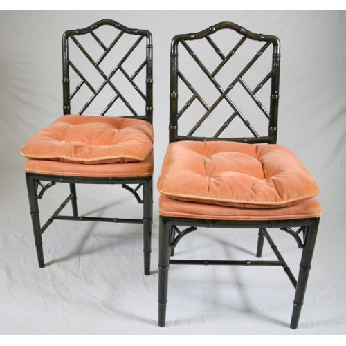 Cocheo Bros. Faux Bamboo Chairs