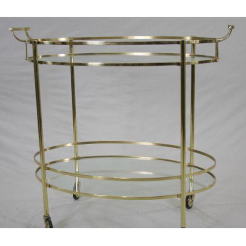 Brass & Glass Cocktail Cart
