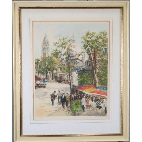 Charles Menton, Framed Watercolor
