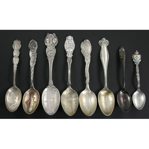 Sterling Silver Collector Spoons (8pcs.)