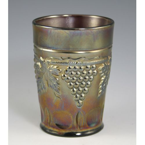 """Northwood """"Grape & Cable"""" Carnival Glass Tumbler"""