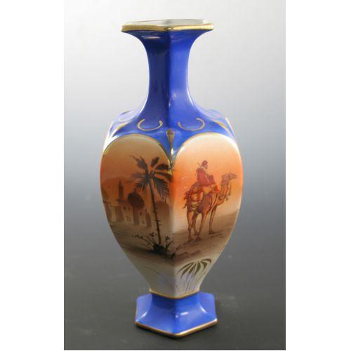 English Porcelain Vase - Arabian Knights Motif