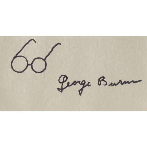 George Burns Autographed Sketch