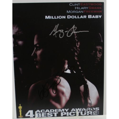 Million Dollar Baby Autographs - Eastwood, Freeman & Swank