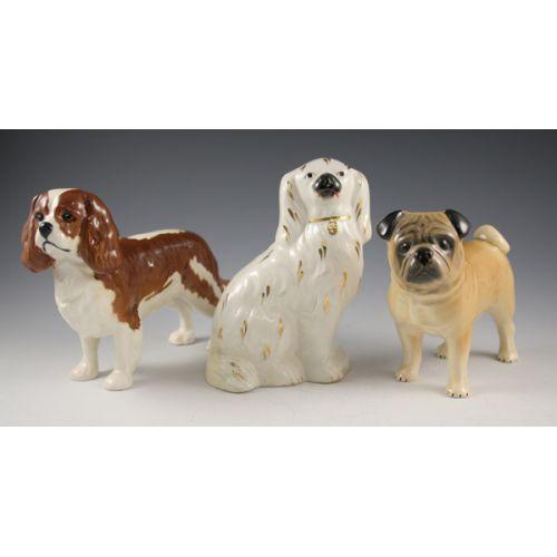 (3) English Dog Figurines incl Beswick & Staffordshire
