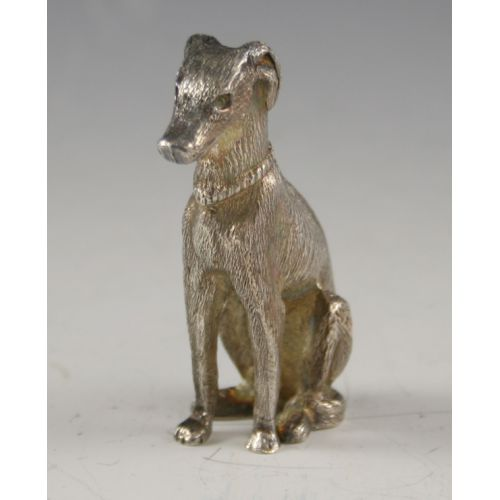 Sterling Silver Dog (Greyhound) Figurine