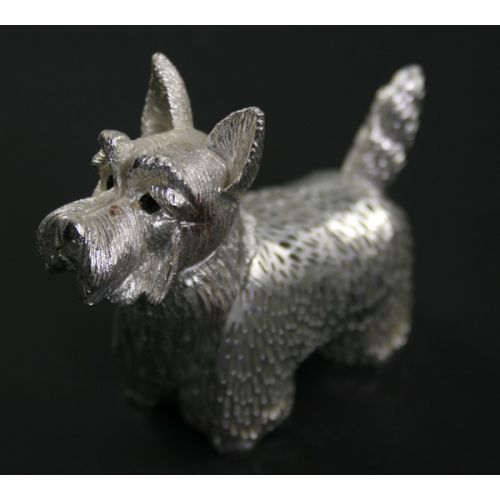 Christofle France Sterling Terrier Dog Figurine