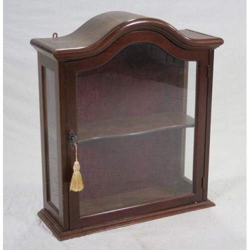 Mahogany Desk Top Display Case