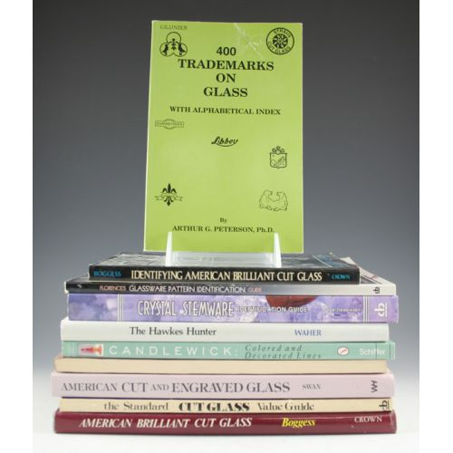 Reference Books on Cut & Pressed Glass (10)