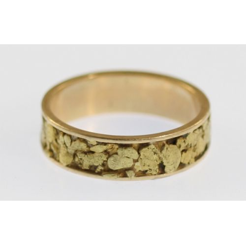 14k Gold Nugget Ring