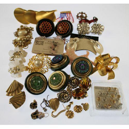 Assorted Earrings & Pins