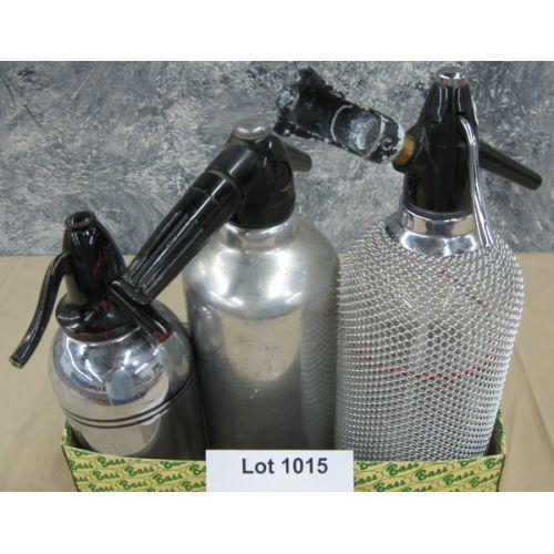 (3) Seltzer Bottles