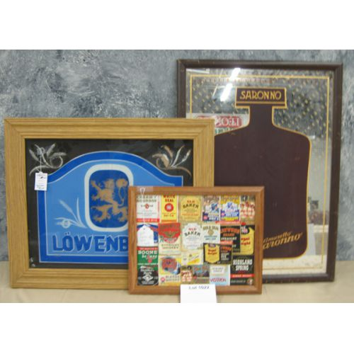 (2) Liquor Mirrors & Liquor Labels