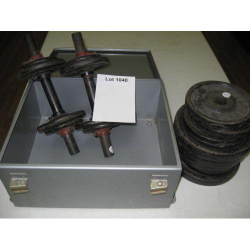 Metal Box W/Dumb Bell