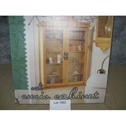 NIB Oak Curio Cabinet