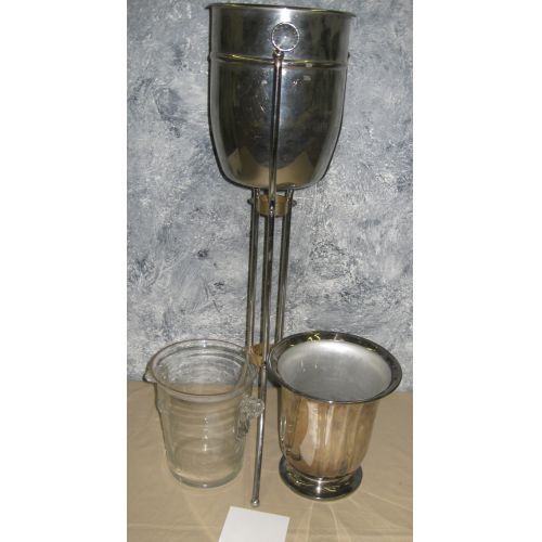 (3) Champagne Buckets w Stand