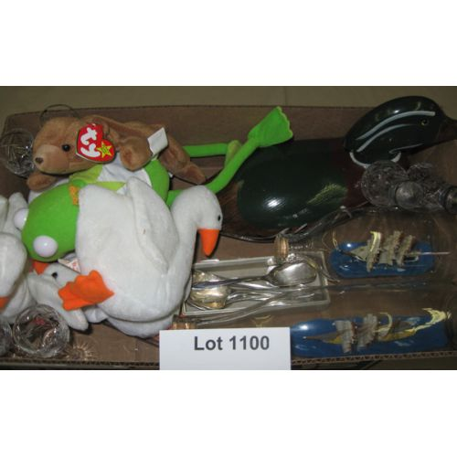 Stuffed Animals, Ship in a Bottles, Duck, Etched Glass