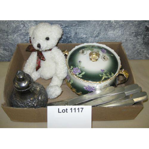 Silverplate, Bear, Covered Jar