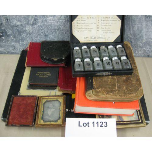 Old Small Books, Tin Type, etc