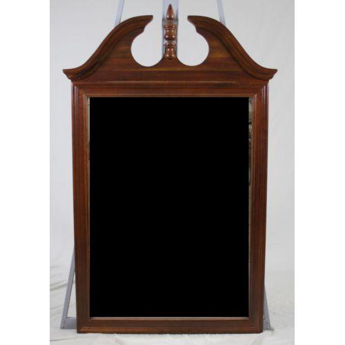 Mahogany Frame Beveled Glass Mirror
