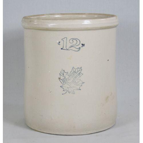 12 Gallon Western Stoneware Crock