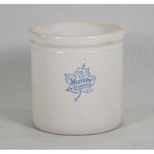 3 Gallon Western Stoneware Crock