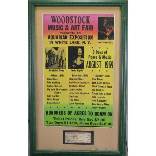 Woodstock Poster & Ticket